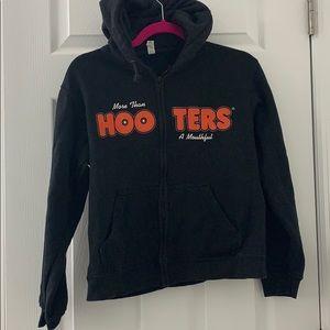 Hooters zip up hoodie